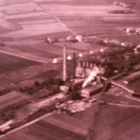 Blick auf die Brikettfabrik