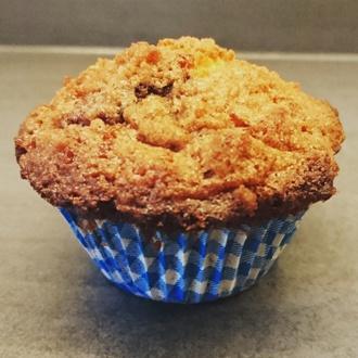 Bosbessen crumble muffins