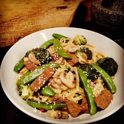 Oosterse groenten met bief