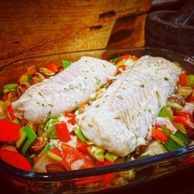 Visfilet met groenten uit de oven