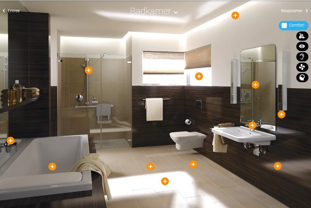 Badkamer demohuis laat u inspireren