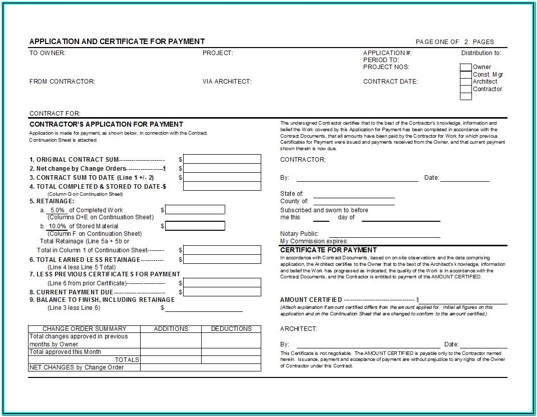 Aia Billing Forms