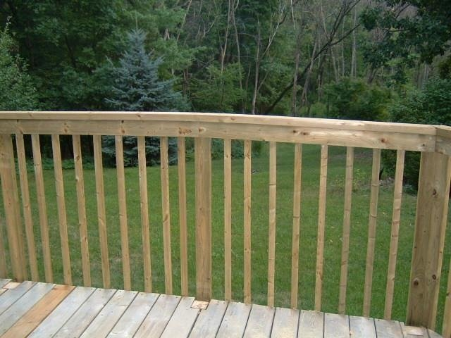 Installing a new deck railing  Thumb and Hammer