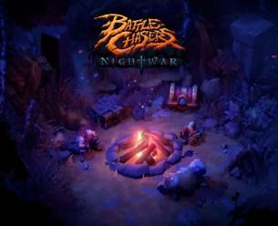 Battle Chasers Nightwar Title Screen