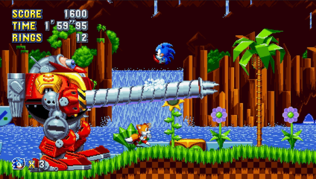 Sonic Mania - Eggman with new toys.