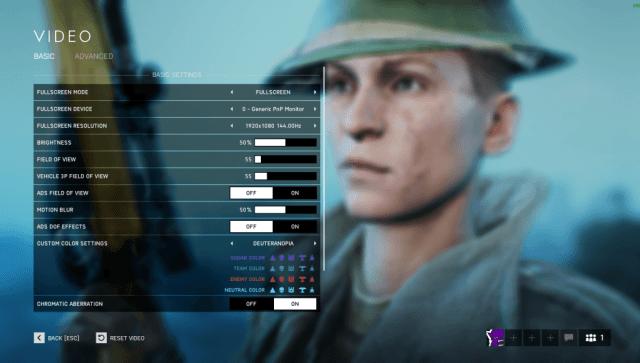 Battlefield V - Video Settings