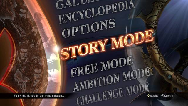 Dynasty Warriors 8: Xtreme Legends Definitive Edition modes