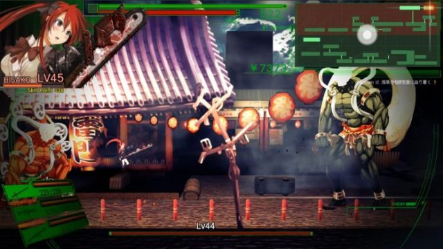 Dead or School. Hisako fights on the surface.