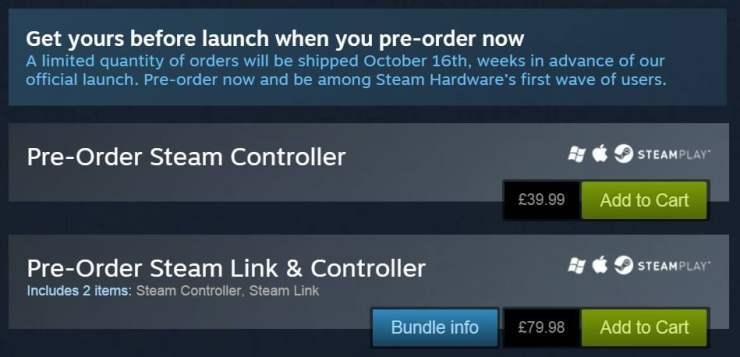 Steam Controller pre-order
