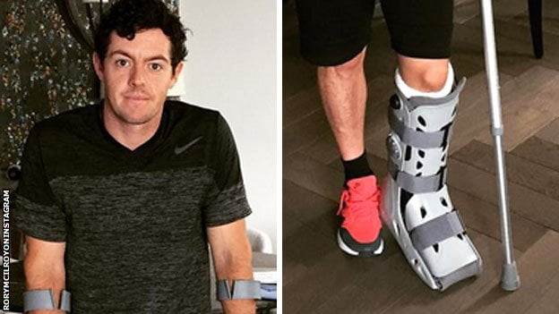 Rory McIlroy ankle