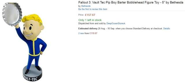 Fallout figurine official bobblehead