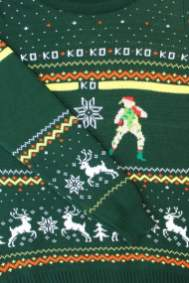 Best gaming Christmas Jumpers – Guile vs Cammy 02