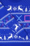 Best gaming Christmas Jumpers – blue PlayStation 03