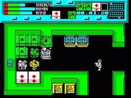 rescue zx spectrum game screenshot 01