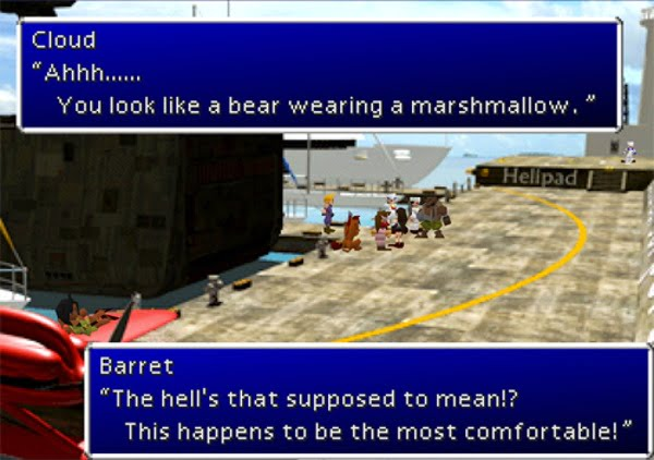 Final Fantasy VII bear wearing a marshmallow