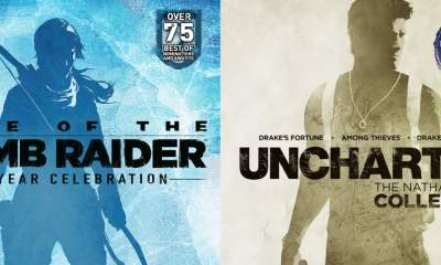 Tomb Raider 20 Year Celebration box art Uncharted Collection