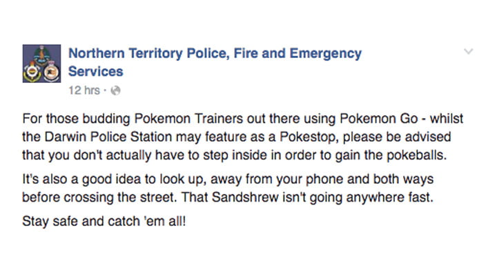 Pokémon GO Police Station statement