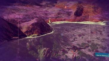 No Man's Sky - Stuck fish from a distance