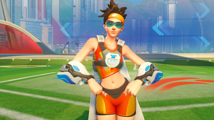 Overwatch Olympics Tracer outfit