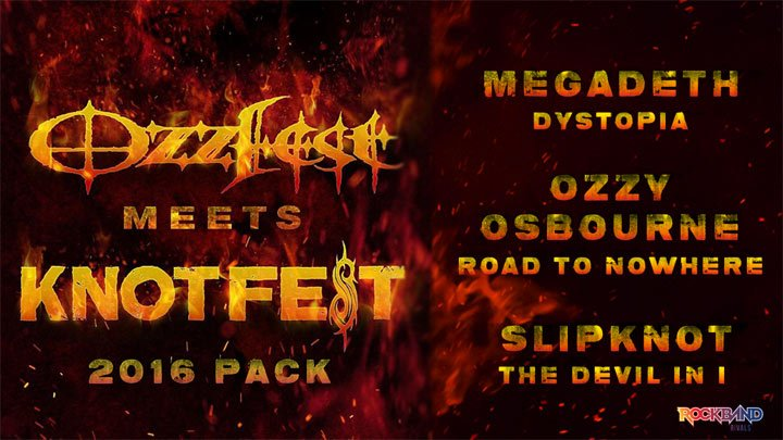 Rock Band 4 celebrates Ozzfest and Knotfest with new DLC - Thumbsticks