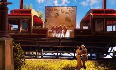 BioShock Infinite anachronistic music barbershop