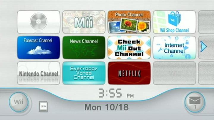 Nintendo Wii - Dashboard