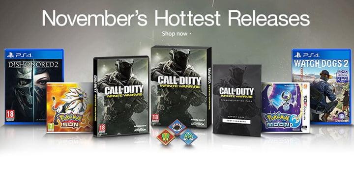 Videogames November 2016