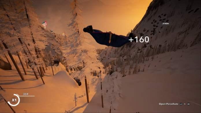 Steep wingsuit