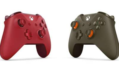 Xbox One Wireless Controller - Red and Green/Orange.
