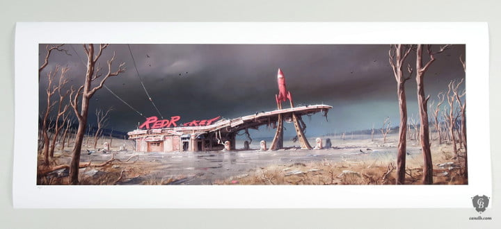 Fallout 4 art print Red Rocket