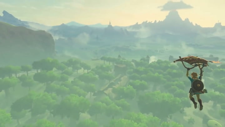 Breath of the Wild hang gliding