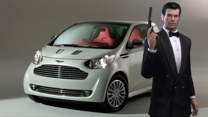 Bond with Aston Martin Cygnet
