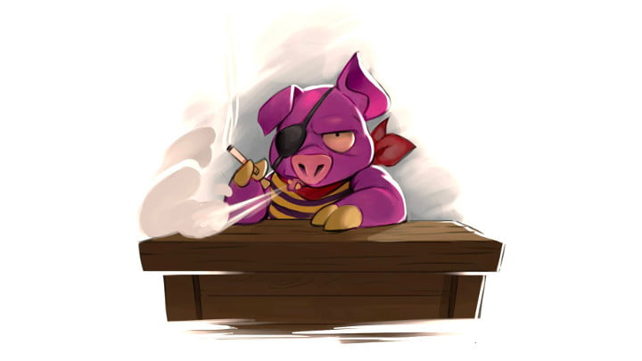 The Dragon's Trap pig