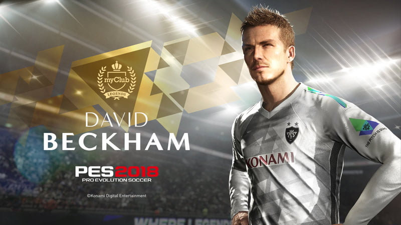 David Beckham signs long-term deal with PES