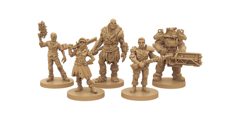 Fallout board game figurines