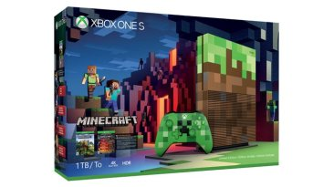 Xbox One S Minecraft Limited Edition box