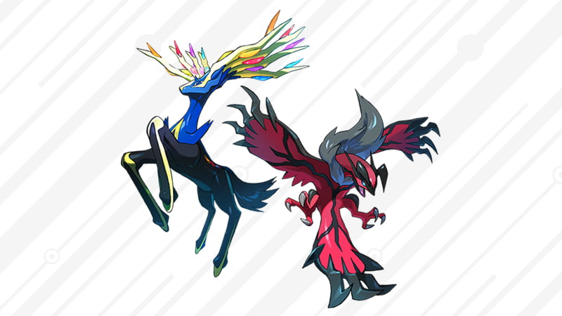 Legendary Pokémon Yveltal and Xerneas