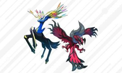 Legendary Pokémon Yveltal and Xerneas