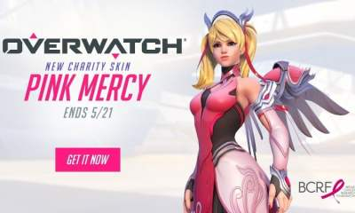 Overwatch Pink Mercy charity skin