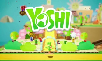 cardboard Yoshi Switch game