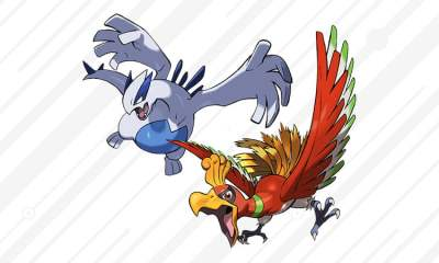 Legendary Pokémon Ho-Oh and Lugia