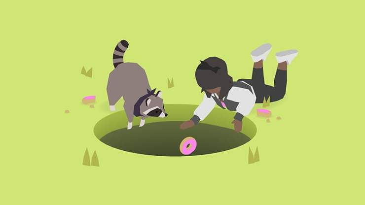 Donut County raccoon