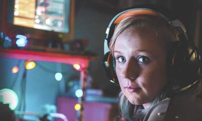 Dead Pixels Meg wearing headset
