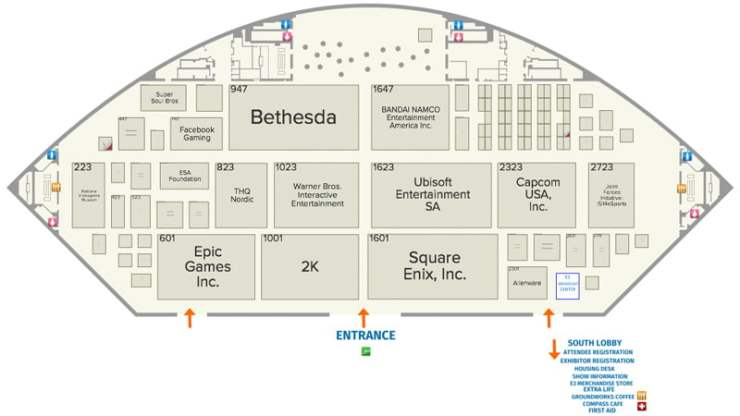 E3 2019 South Hall Floor Plan