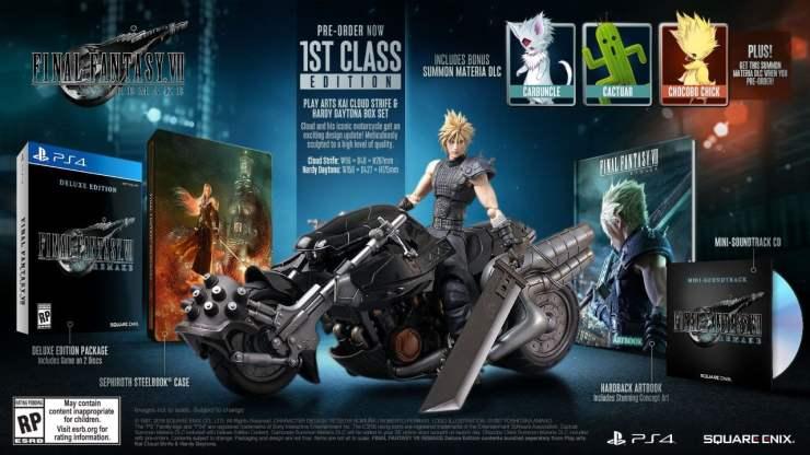 Final Fantasy VII Remake first class edition