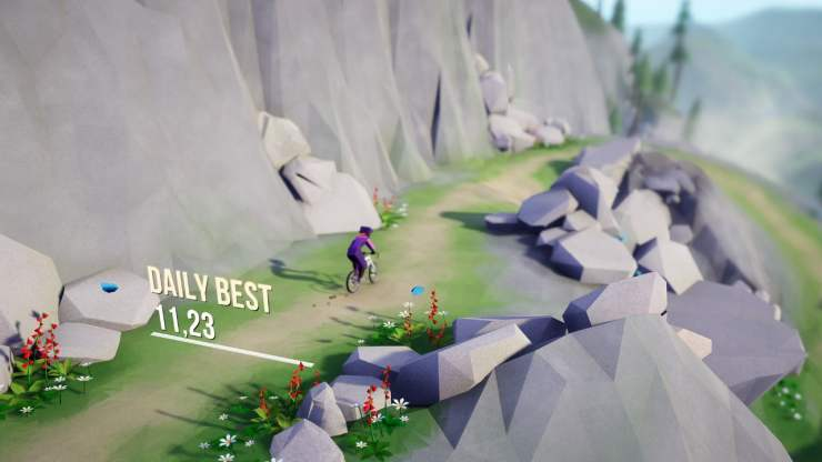 Lonely Mountains Downhill Nintendo Switch review depth of field