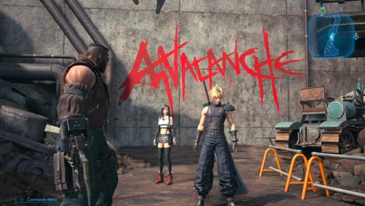 final fantasy vii remake avalanche graffiti