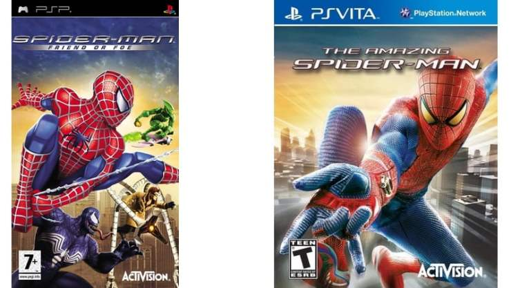 Spider-Man PSP PS Vita Box Art