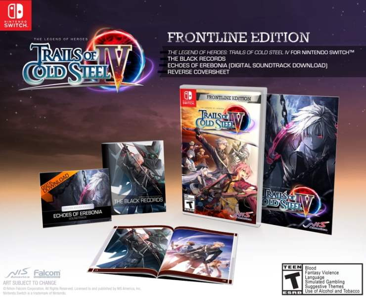 Trails of Cold Steel IV - Nintendo Switch Frontline Edition