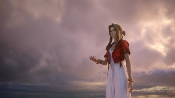 Final Fantasy VII Remake Aerith rain